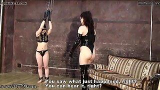 Japonasas bdsm punição de de cabeça para baixo masoquista escravia