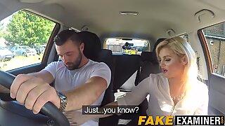 Driving examiner katy jayne fodendo seu grande levar pilas estudante