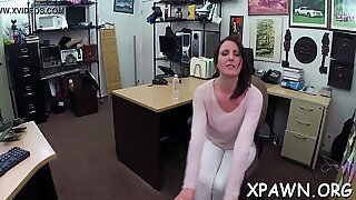 Enjoyment loving and playful dilettante is fucked behind the counter