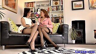 Stockings milf pussylicking redhead babe