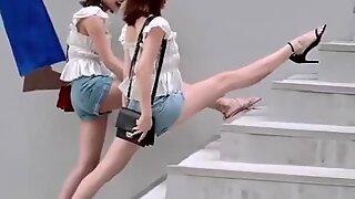 Chinesas sexy rapariga de tik tok, dance sxey hot
