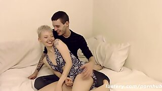 additional small short Haired Girl Takes Boyfriend's Huge Cock