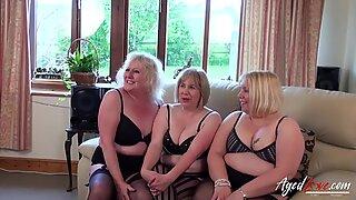 Agedlove três maduras senhoras ocupando um caralhos