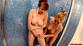 Matures Red Xxx and Lucy Gresty Teasing in The Shower