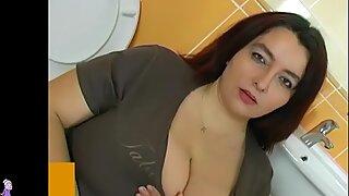 Gordas Gordas mulher em Casa de Banho fazer sexo com jovem