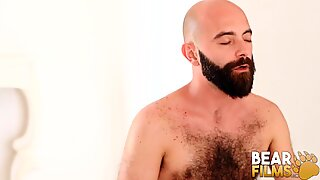 BEARFILMS Bear Justin West Drills Young Cub After BJ