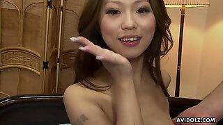 Japonesas querida Ai koda cortou o cona stim