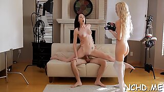 Lustful chick demonstrates her skills at the casting session