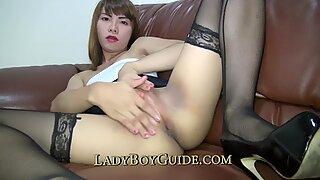 Thai Transexual Masturbates For Your Delectation