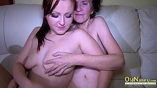 Oldnanny Old Maduras e Novinhas Lésbicas Masturbação