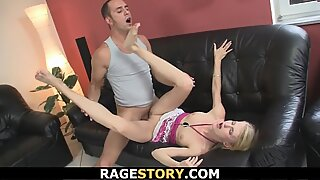 Mom teaching her toying and riding